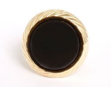 Stunning 14k Yellow Gold and Black Onyx Dome Ring Sz.6