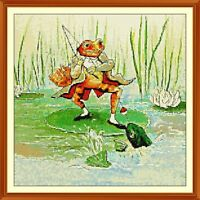 Toad- beatrix-potter CROSS STITCH CHART 12.0 x 12.0 Inches