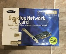 Lot of  9 Sealed BELKIN 10/100 NETWORK ADAPTER DESKTOP PCI CARD ETHERNET F5D5000
