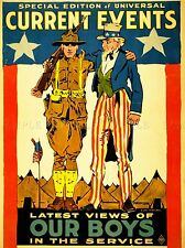 Publicidad Revista de cubrir los acontecimientos actuales fuerzas armadas Uncle Sam Usa impresión lv953