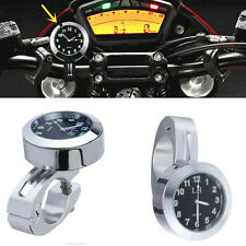 """1pcs 7/8"""" to 1"""" Motorcycle Accessory Handlebar Mount Watch Dial Clock For Yamaha"""