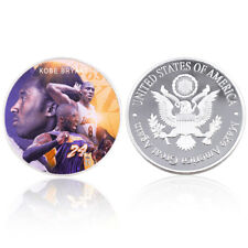 Kobe Bryant Final Season Commemorative Silver plated Coin  LAKERS MAMBA SOLD