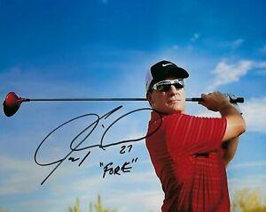 "GFA Inscribed "" FORE "" Rare JEREMY ROENICK Signed 8x10 Photo J6 COA"