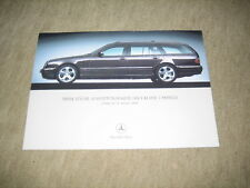 """Mercedes clase e t-modelo s210 equipamiento paquetes lista de precios Price List"""" 2002"""