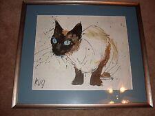 Siamese Cat, Fritz Rudolf Hug Signed , Vintage