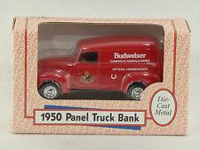Ertl BUDWEISER Anheuser Busch 1950 PANEL TRUCK Die Cast METAL BANK