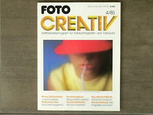 """FOTO CREATIV・4/85・300 LESERFOTOS・WETTBEWERB """"AKT""""・SONNENAUFGÄNGE・MINOLTA 9000 AF"""