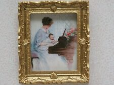 Picture / Mother & Child, Dolls House Miniatures, Wall Decor Ornate