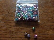 Acrilico metallico Bicono Perle Distanziatore circa 6 mm x 100