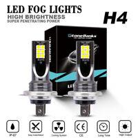 2x H4 Hi/Lo LED Phare Ampoule Voiture 30000LM Feux Remplacer Xénon Lampe 6000K