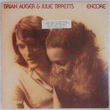 BRIAN AUGER & JULIE TIPPETTS: Encore USA WB Jazz Rock Promo Vinyl LP NM