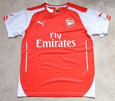 New Puma Arsenal FC Red Football Jersey Crew Neck Training T-Shirt 34-36 14-16y