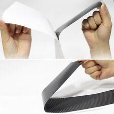 4Pc Silver DIY Car Door Sill Scuff  Pedal Protect 3D Carbon Fiber Grain Stickers