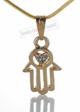 Karma Necklace Hand of God Hamsa Evil Eye Charm Pendant Jewish Judaica Kabbalah