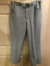 Vintage Pants Polyester Golf Retro Haband Striped Lt Blue White Men 40 x 31