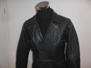 Bikerjacke oldschool 80s Motorradjacke Leder vintage rocker Jacke Motorrad L