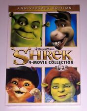 BRAND NEW! SHREK. 4 MOVIE COLLECTION. ANNIVERSARY EDITION. 4 DVD SET. SHIPS FREE