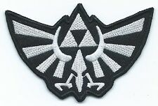 Silver Hyrule Wingcrest Embroidered Patch Iron-on Motif Art Luck Legend of Zelda