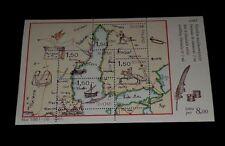 Finland #728, 1985, Postal Map, Souvenir Sheet, Mnh, Nice! Lqqk