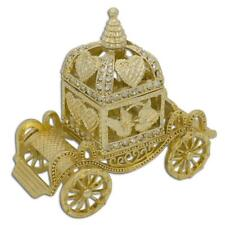 Golden Royal Coronation Coach Trinket Box Figurine