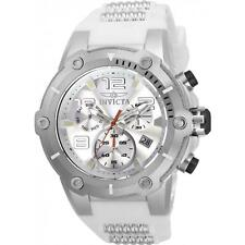 INVICTA MEN'S SPEEDWAY WHITE POLYURETHANE BAND STEEL CASE QUARTZ WATCH 22511