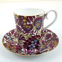 Demitasse Cup & Saucer Royal Albert Arabesque Bone China England Vintage