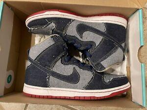 Nike SB Dunk High Reese Forbes Denim Men's 8.5 881758 441
