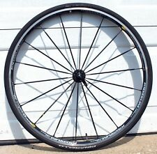 Mavic Ksyrium SL Alloy / Carbon Hub Front 700C Road Bike Wheel, Skewer, 25c Tire