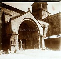 Italia Lucca Eglise, Foto Stereo Vintage Placca Lente VR3L4n7