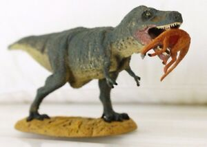 Rare Tyrannosaurus Rex Dinosaur with pray in mouth Toy Collectables