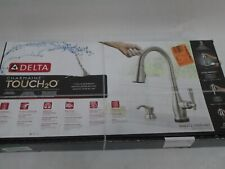 NEW SEALED DELTA CHARMAINE PULL DOWN KITCHEN FAUCET TOUCH2O S/S 19962TZ-SSSD-DST