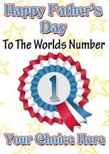 Bichon Frise Perro Día Del Padre tarjeta de felicitación personalizada pidfd23 Papá Daddy