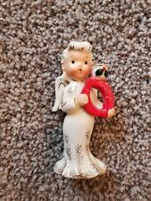 Angel Noel Candle Holder Replacement Letter O Christmas Figurine Napco 1957