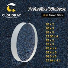 Laser Protective Windows Dia.20-27mm Quartz Fused Silica for Fiber Laser 1064nm