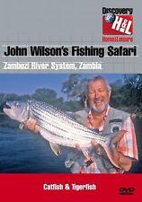 JOHN WILSON'S  FISHING SAFARI - CATFISH & TIGERFISH - ZAMBEZI DVD -FREE POST UK