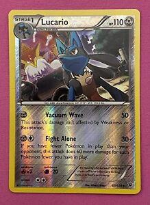 Lucario 63/124 Holo Pokemon Card Fates Collide NM