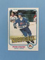 Peter Stastny NICE ROOKIE O-Pee-Chee NHL Hockey Card 1981-82 #269  SEE PHOTOS