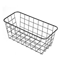 Vintage Mount Storage Basket Metal Wire Wall Hanging Basket Storage Organizer