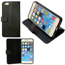 "Custodia BOOKLET eco pelle per iPhone 6 6S Plus 5.5"" stand TASCHE PORTA SCHEDE"