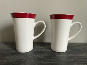 Aynsley Madison Fine Bone China Tall Latte Mugs X 2