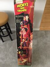 "Mr Christmas Rare 1993 Disney Mickey's Tree Trimmers Ladder 46"" Animated"