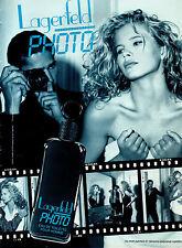 Publicité Advertising 1991  Parfum Lagerfeld PHOTO eau de toilette pour homme