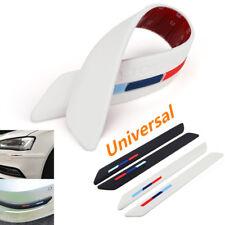 2x Universal Weiß Kfz Stoßstangenschutz Gummi Aufkleber Stoßstange Schutzleisten