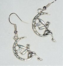 Fairy Earrings on Silver plate fish hook '287'  moon fairy earrings !