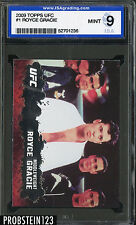 2009 Topps UFC #1 Royce Gracie ISA 9 MINT