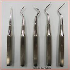 Heidbrink root tip picks (Set of 5PCS) Fortec Dental Instruments