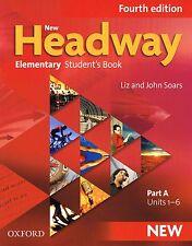 Oxford NEW HEADWAY élémentaire (quatrième édition livre de l'élève partie une unités 1-6 nouveau