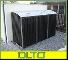 Mülltonnenbox ALICE INOX 2//120 L Müllbox Tonnenhaus Müllcontainer  Edelstahl