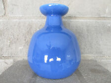 Old Blue Pottery Flower Vase 6""
