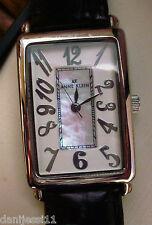 Reloj marca Anne Klein para mujer, correa de cuero color negro